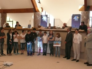 La remise des prix dans l'hémicycle du Conseil général du Morbihan.